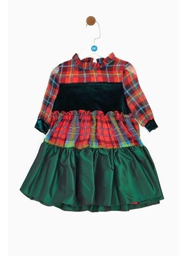 Lia Lea Kız Çocuk Desenli Elbise Renkli